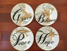 St. Nicholas Spirit of the Season Salad Plates - Grace, Peace, Believe & Hope