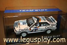 Slot SCX Scalextric Team Slot PDV01012302 Audi Quattro A2 Clarion - New