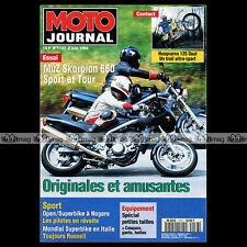 MOTO JOURNAL N°1137 HARLEY 750 WLA MUZ SKORPION 660 TOUR HUSQVARNA 125 DUAL 1994