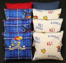 University of Kansas Jayhawks Cornhole Bean Bags 8 Aca Regulation Ku Bags New!