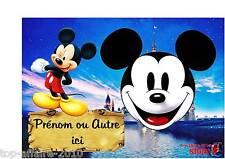 Plaque de porte en ( sur ) bois personnalisée Mickey N° 57  avec prénom ou texte