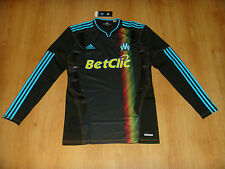 Olympique Marseille France Jersey Tech Fit Top Maillot NEW TECHFIT Shirt RARE LS