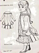 "18-19""ANTIQUE FRENCH JUMEAU-GERMAN CHILD DOLL@1883 BUSTLE JACKET-DRESS PATTERN"