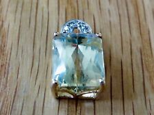 Canary KUNZITE et diamant Set de bague, pendentif & boucles d'oreilles en or jaune #063