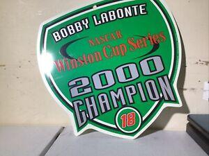 Bobby Labonte Nascar Winston Cup Series 2000 Champion Tin Wall Art
