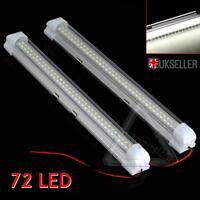 2x 12V 72 LED blanc Intérieur Voiture Auto Bande De Lumières Barre Lampe
