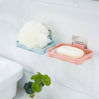 Soap Box Dish Wall Mounted Storage Tray Holder Bath Shower Bathroom Container