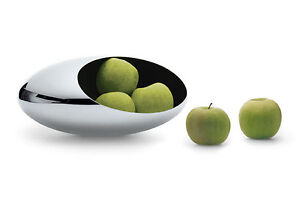 Philippi Design Cocoon L Fruit Bowl New/Boxed Large Stainless Steel Polished