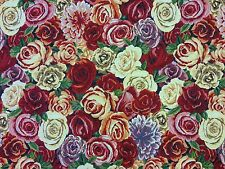 ROSES TAPESTRY MULTI K2 CURTAIN SOFT FURNISHING UPHOLSTERY FABRIC WOVEN FLORAL