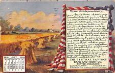 Denver Colorado~Central Savings Bank & Trust~July 1910 Calendar~Independence~Adv