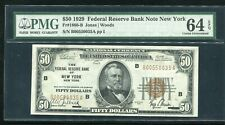 FR. 1880-B 1929 $50 FRBN FEDERAL RESERVE BANK NOTE NEW YORK, NY PMG UNC-64EPQ
