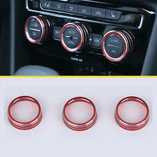 Stainless AC Climate Control Knob Frame Trim For Volkswagen VW Tiguan 2017-2019