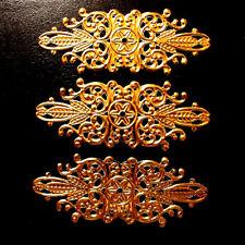 3 St. Möbelbeschlag gold Antikbeschlag Zierbeschlag Beschlag Zierteil Metall