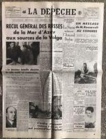 N20 La Une Du Journal La Dépêche Du Centre 10 Octobre 1941
