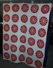 Antique Red & White Friendship Quilt with History, Cumberland Iowa-Church Quilt