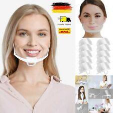 Mund Nasen Visier 3/5/10x Faceshield klarsicht Maske Gesichtschutz transparent