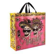 Bleu Q day of the dead sugar skull floral sac shopping