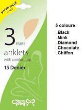 Joanna Gray Ladies Super Value 15 Denier Anklets 3pp size 3-8 Best Offer