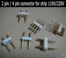 5Pcs 220V LED Tira de Cobre de 2 pines del conector Aguja Para SMD 5050 Tira de Luz LED