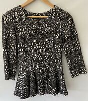 CUE divine Textured 3/4 Sleeve Top Blouse Size 8