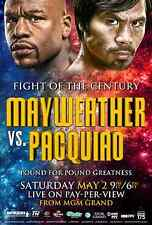 FLOYD MAYWEATHER v MANNY PACQUIAO 2015 WORLD TITLE FIGHT PROMO POSTER 2