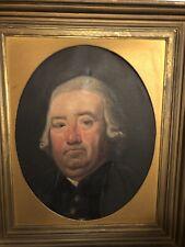 Oil Canvas Antique 19th C painting Gentleman portrait marked HOWES
