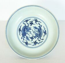 A Chinese antique blue and white porcelain plate