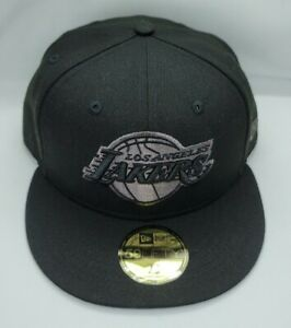 NEW ERA 59FIFTY FITTED HAT.   NBA.   LOS ANGELES LAKERS.   BLACK.