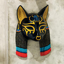 Ancient Egyptian Cat Goddess of Protection Bastet Wall Mask Sculpture