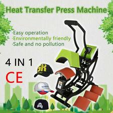 4 In 1 650w Digital Cap Hat Heat Press Machine Sublimation Transfer Machine Us