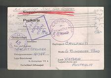 1942 Germany Stalag 7A Prisoner of War Pow Postcard Cover to Australia H Spencer