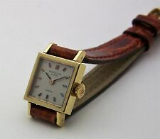 Vintage 18K Yellow Gold Patek Philippe Gubelin 16mm Square Womans Watch 3285 21