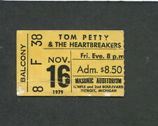 Original 1979 Tom Petty Heartbreakers Concert Ticket Stub Damn The Torpedoes