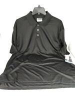PGA TOUR Men's Airflux Short Sleeve Solid Polo-Shirts, Caviar, XXL