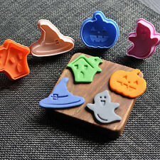 4Pcs Halloween Ghost Plunger Cake Chocolate Cookie Fondant Mold Mould Cutter Set