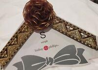 Lindsay Phillips Switchflops Straps Burgundy Flower Gold Size Small