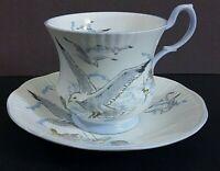 Queens/ Rosina Seagull bone china Cup & Saucer Set