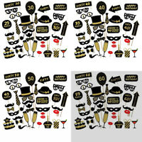36PCS 21st 30th 40th 50th 60th Birthday Party Masks Favor Photo Booth Props US