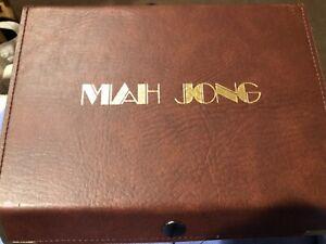 Mah Jong game tile set in original case . Unopened new
