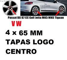 4 x TAPA PARA LLANTA VW DE 65 mm EMBLEMA LOGO VOLKSWAGEN PLATEADO golf polo