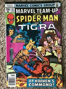 Marvel Team-Up #67 (Marvel, March 1978) NM- (9.2) & Tigra vs. Kraven