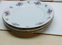 "Royal Heidelberg Winterling Germany Replacement 10"" Dinner Plate Set 3-Pcs Ivory"
