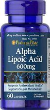 Puritan's Pride Ácido Alfa Lipoico 600 mg 60 cápsulas