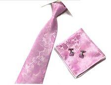 Corbata seda para hombre Paisley Jacquard conjunto Gemelos Y Pañuelo Conjunto de regalo de boda