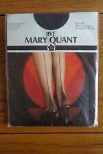 Vintage Mary quant ivoire double diamond collants taille unique diamant fin design