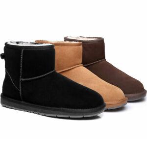 UGG Boots Women Men Mini Classic Australian Sheepskin Wool Suede Ankle Boots