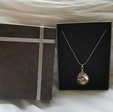 CRYSTAL PENDANT ON WHITE GOLD PLATED CHAIN, GIFT BOXED, IDEAL XMAS SET