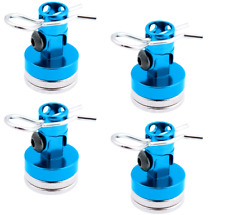 4x MAGNETIC Body Mounts for RC vehicles in Blue anodised aluminium