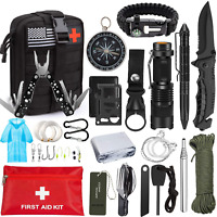 Emergency Survival Kit 47 in 1 Professional Survival Gear Tool First Aid Kit SOS