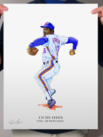 "Dwight Doc Gooden 1986 New York Mets Print Poster 12"" x 16"""